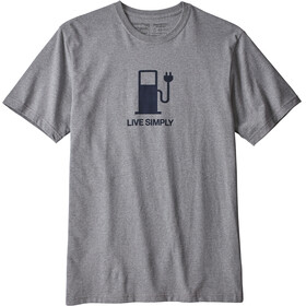 Patagonia M's Live Simply Power Responsibili-Tee Gravel Heather